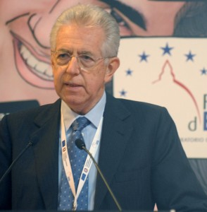 Mario Monti on May in Florence for the official opening of the SoU conference 2012