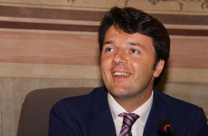 Matteo Renzi for the welcome remarks at the SoU 2012 in Florence