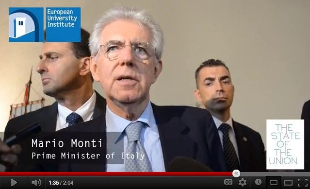 Mario Monti at the State of the Union 2012