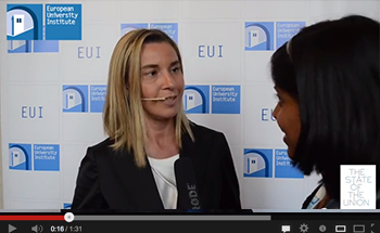 Federica Mogherini at THE STATE OF THE UNION 2014