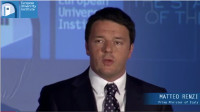 Keynote speech by Italian Prime Minister Matteo Renzi