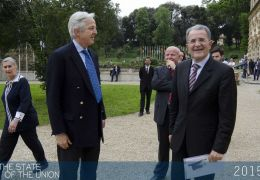 Romano Prodi and the British Ambassador to Italy Christopher Prentice