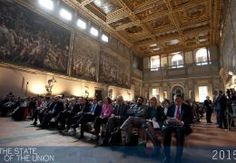 Salone dei Cinquecento during the The State of the Union Address by Martin Scheinin