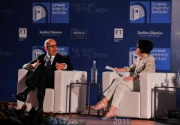 Mohamed ElBaradei and Jennifer Welsh