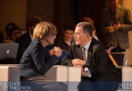 Danuta Hubner and Romano Prodi