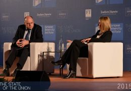 Tony Barber and Federica Mogherini