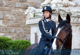 Police officer at Palazzo Vecchio