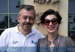 Luca Meloni, EUI Staff and Despina Chatzimanoli, President of the EUI Alumni Association