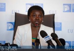 Cécilie Kyenge talks to the Press