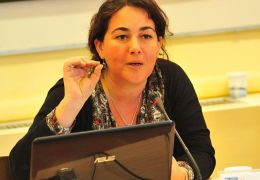Simona Lanzoni talking about violence against women in Europe