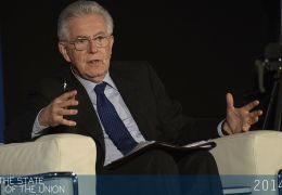Mario Monti speaks about the crisis